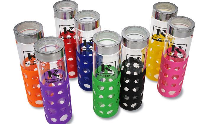 An array of Veranda Grip Glass Bottles