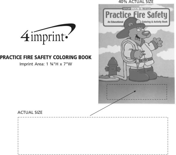 4imprint.com: Practice Fire Safety Coloring Book 1034-PFS