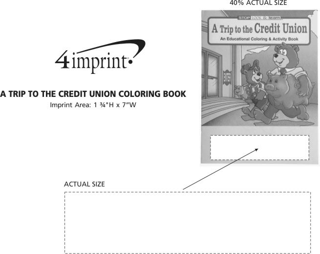 a trip to the credit union coloring book item no 1034 tcu from