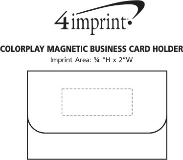4imprint colorplay magnetic business card holder 103441 view imprint area use touch to zoom in previous colorplay magnetic business card holder colourmoves