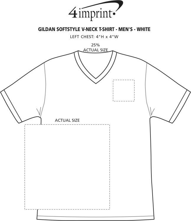28f5c2679cb 4imprint.com  Gildan Softstyle V-Neck T-Shirt - Men s - White 103476 ...