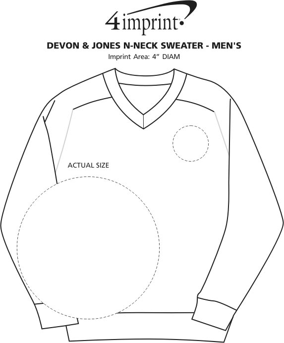 4imprint Com Cotton Wrinkle Resist V Neck Sweater
