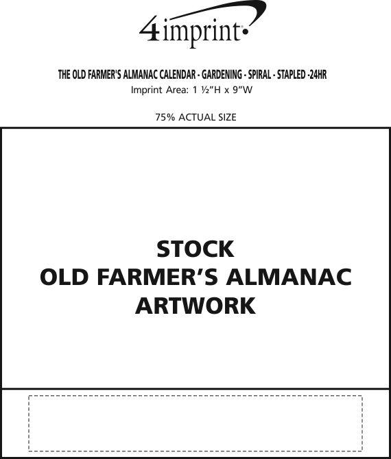 The Old Farmer 39 S Almanac Calendar Gardening Stapled 24 Hr 106824 St 24hr