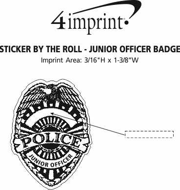 Lapel Sticker by the Roll - Junior Officer Badge