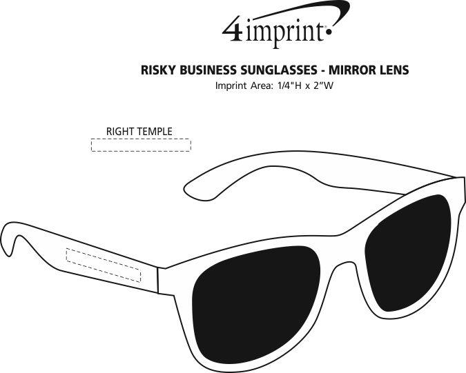 85a3e0a103 ... Risky Business Sunglasses - Mirror Lens Image 2 of 2. View Imprint