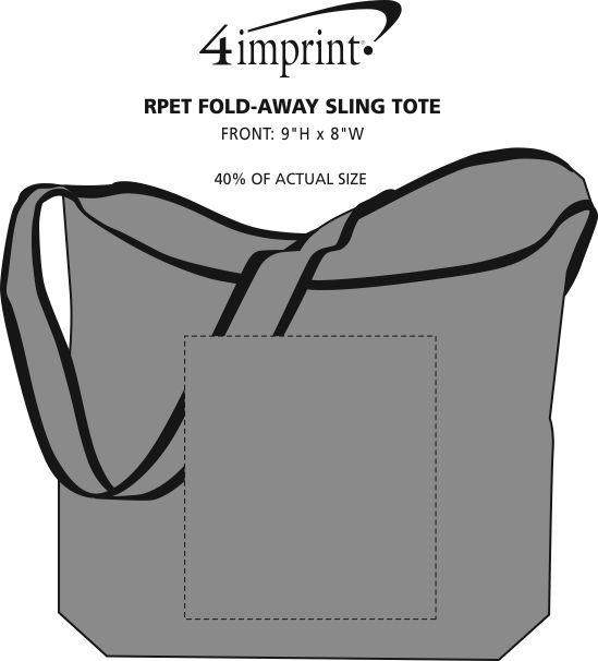 9e584d34b 4imprint.com  RPET Fold-Away Sling Tote 110217