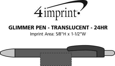 4imprint Com Glimmer Pen Translucent 24 Hr 111003 T