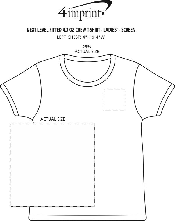 a57ac69931 4imprint.com  Next Level Fitted 4.3 oz. Crew T-Shirt - Ladies ...