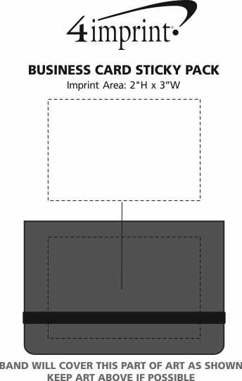 4imprint business card sticky pack 111501 view imprint area previous business card sticky colourmoves