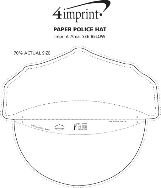 top hat template for kids - paper police hat 113605