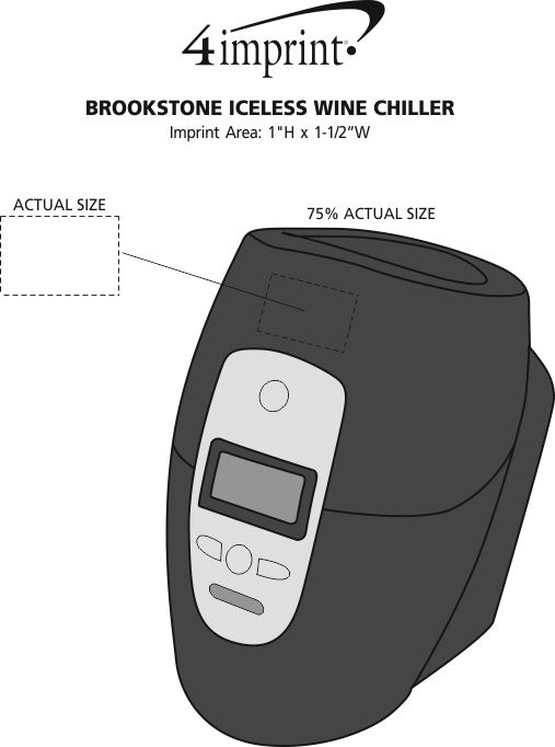 Brookstone Iceless Wine Chiller Item No 113783 From