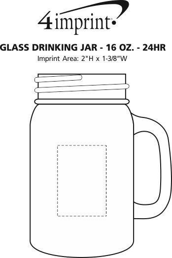 4imprint.com: Glass Drinking Jar - 16 oz. - 24 hr 114229 ...