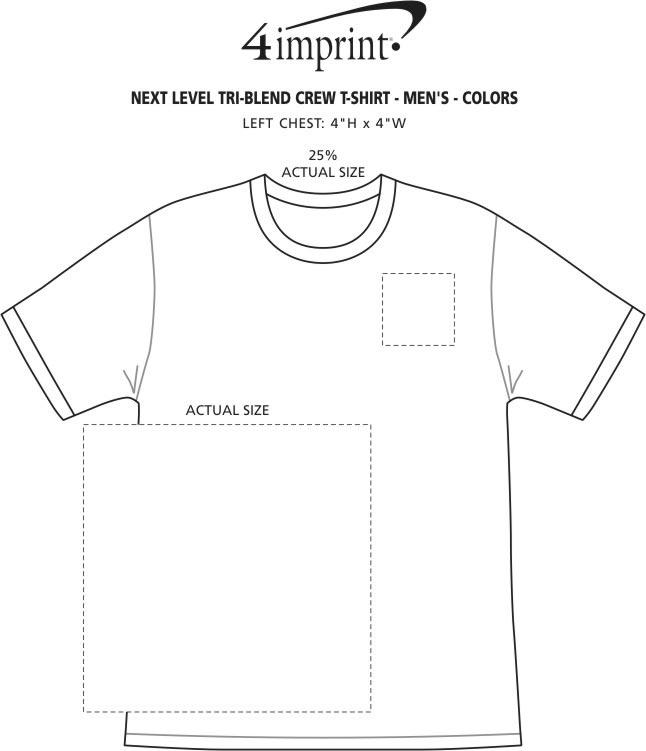 2cdc2098 4imprint.com: Next Level Tri-Blend Crew T-Shirt - Men's - Colors ...