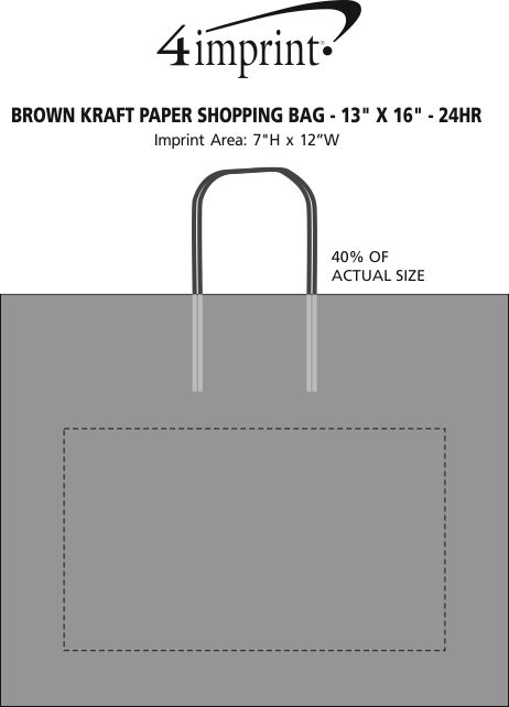 brown kraft recycled paper bag x hr item no imprint