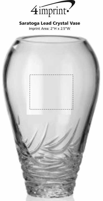4imprint Saratoga Lead Crystal Vase 115689