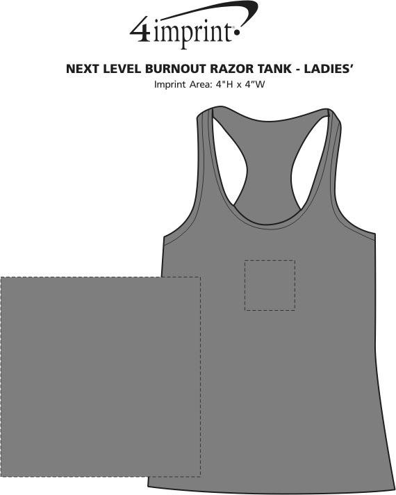 661fbecfbb75d 4imprint.com  Next Level Burnout Racerback Tank - Ladies  116552-L-TT