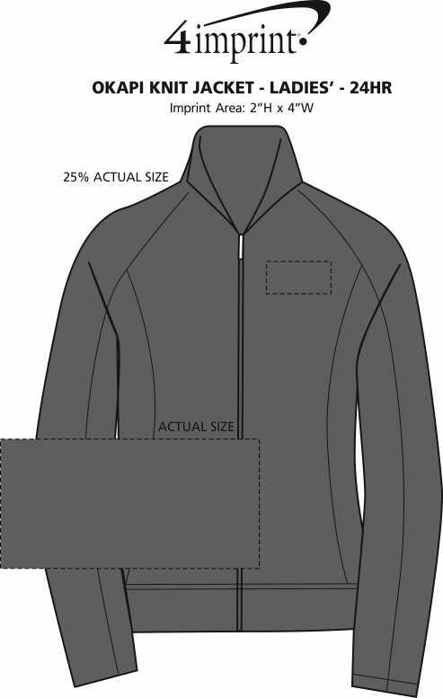 c025a54da 4imprint.com  Okapi Knit Jacket - Ladies  - 24 hr 116908-L-24HR