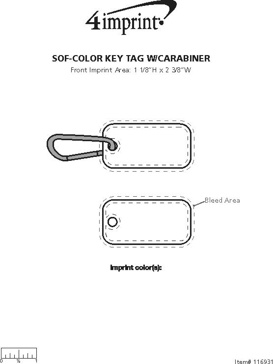 4imprint sof color keychain with carabiner 116931 view imprint area ccuart Images
