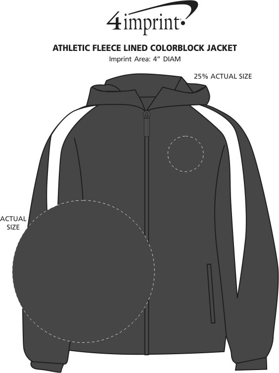 950db7b35a66 4imprint.com  Athletic Fleece Lined Colorblock Jacket 117292