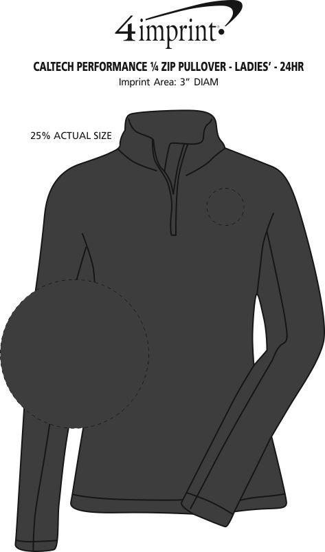 8227337915d0 4imprint.com  Caltech Performance 1 4-Zip Pullover - Ladies  - 24 hr ...