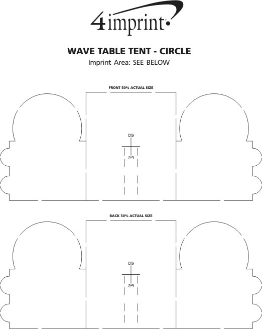 Imprintcom Wave Table Tent Circle CR - Table tent size