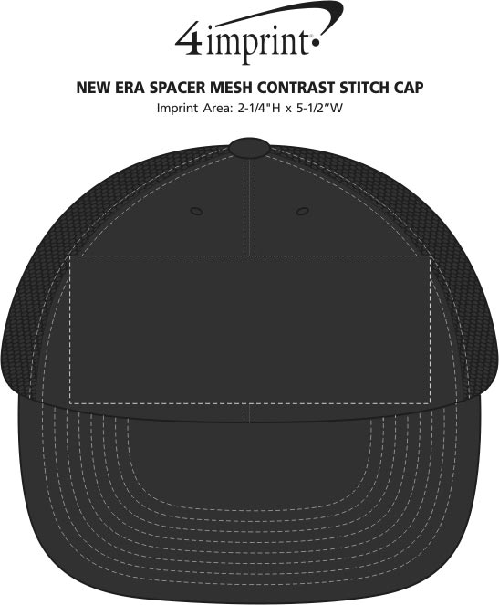 ... New Era Spacer Mesh Contrast Stitch Cap Image 2 of 2. 360° view · View  Imprint 5fe8db5397c4