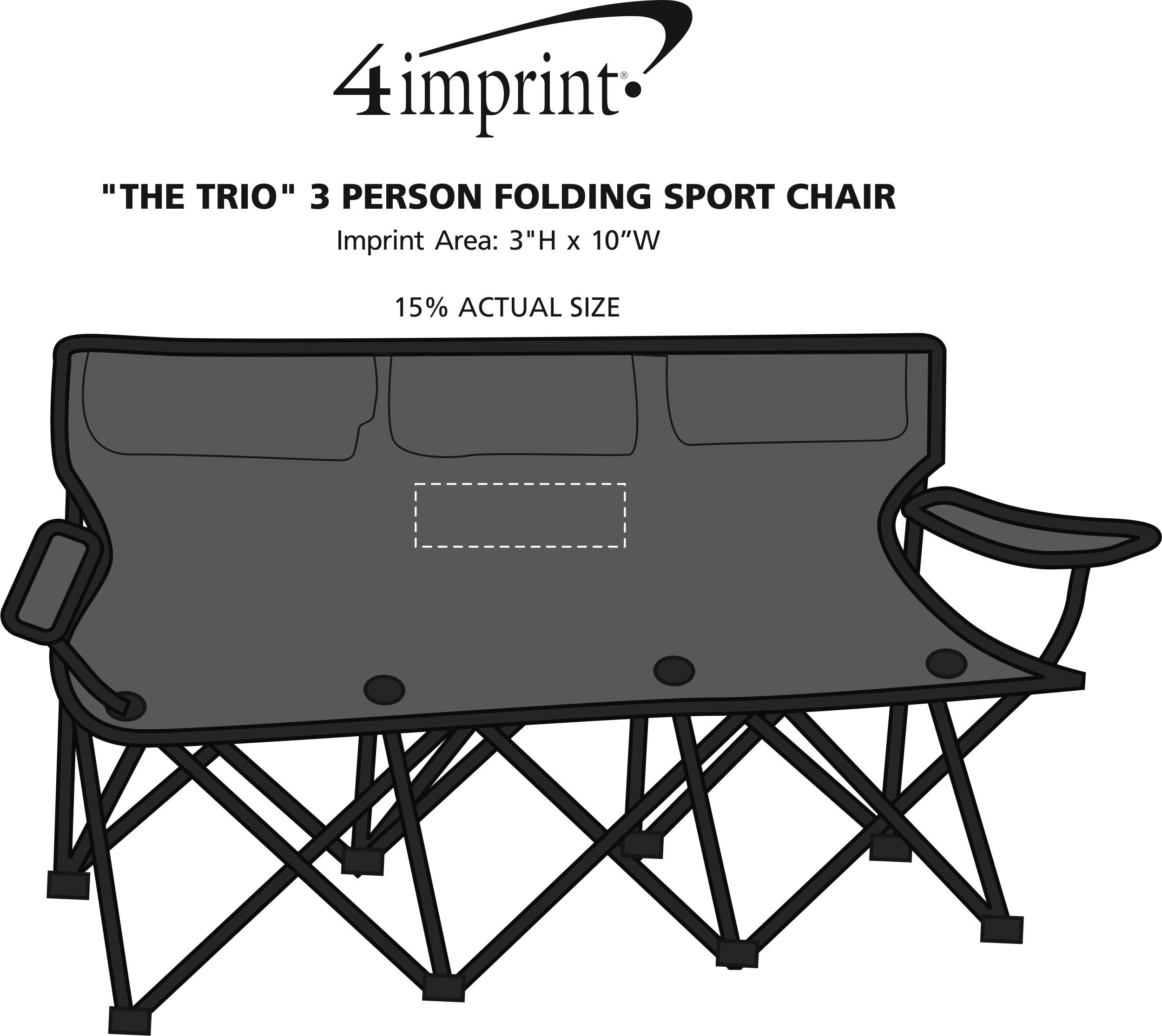 "4imprint ""The Trio"" 3 Person Folding Sport Chair"