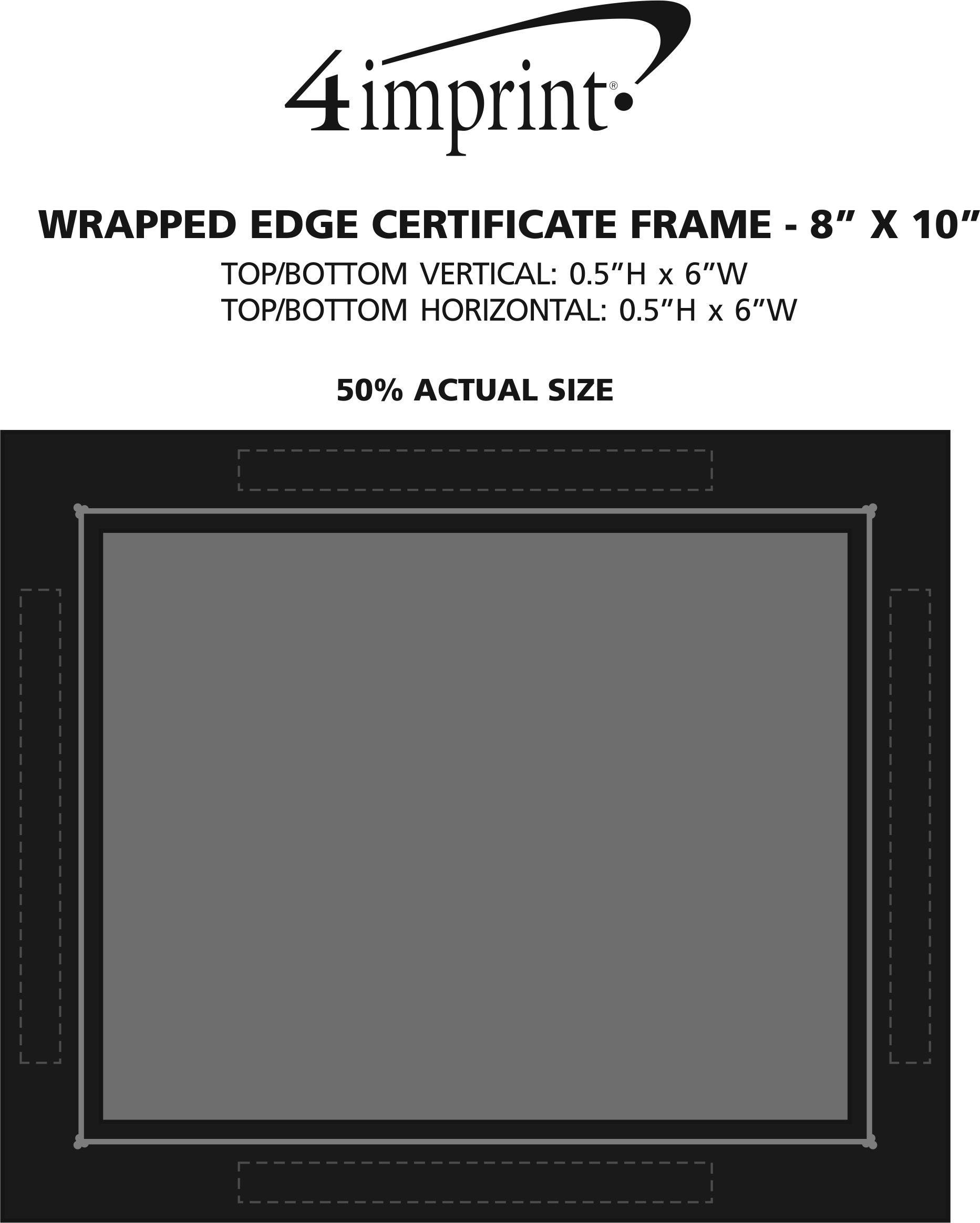 4imprintcom Wrapped Edge Certificate Frame 8 X 10 119362 810