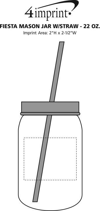 Fiesta Mason Jar With Straw