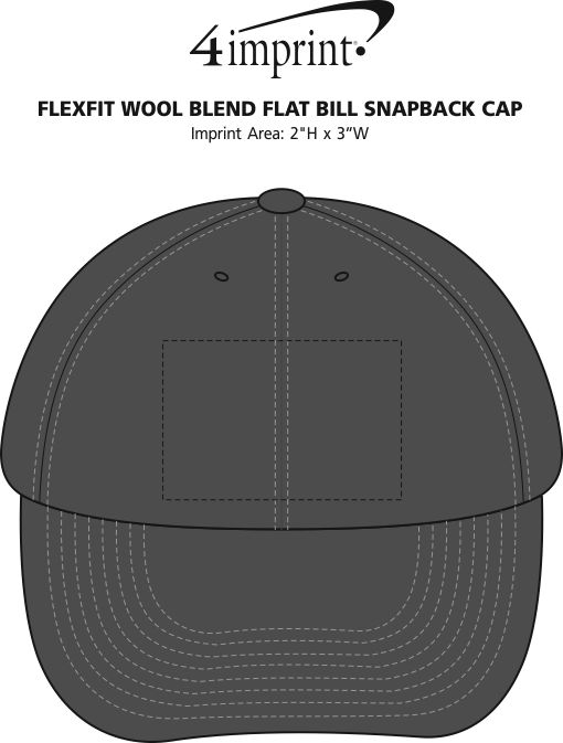 ec5513d8fd0 ... Flexfit Wool Blend Flat Bill Snapback Cap Image 2 of 2. 360° view ·  View Imprint