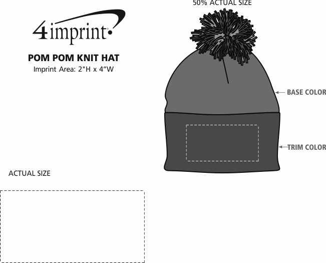 65ba1007882 4imprint.com  Pom Pom Knit Hat 121227