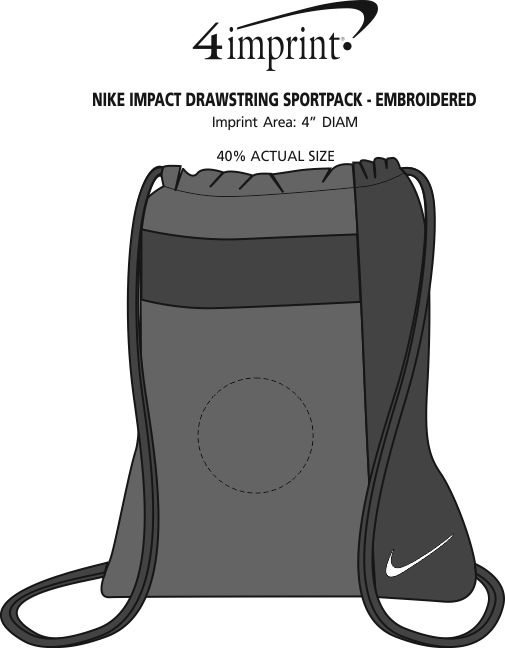 ec739696c8 ... Nike Impact Drawstring Sportpack - Embroidered Image 2 of 2. View  Imprint