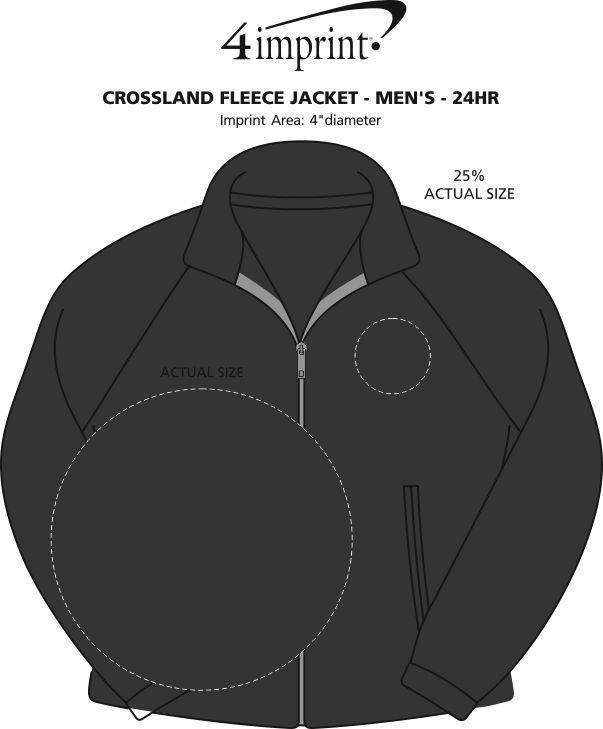 aea2148b7d15 4imprint.com  Crossland Fleece Jacket - Men s - 24 hr 123990-M-24HR