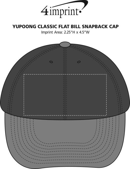 Yupoong Classic Flat Bill Snapback Cap Image 1 of 1. 360° view · View  Imprint e88be89b660a