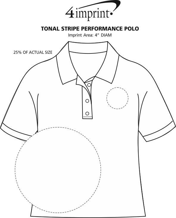 Tonal Stripe Performance Polo