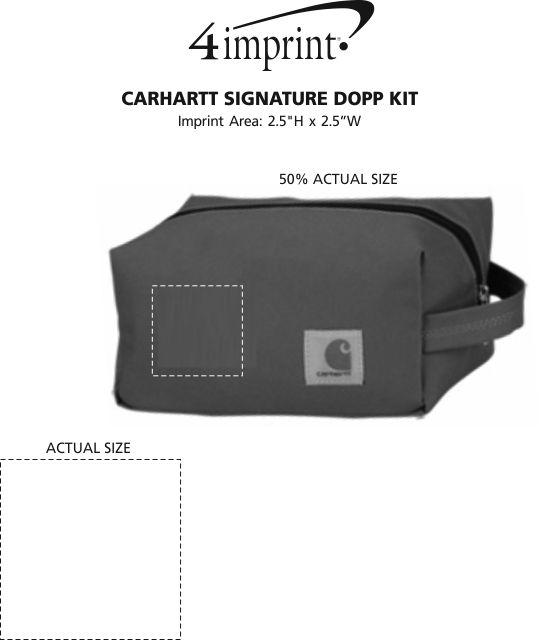56d10e15f6 4imprint.com  Carhartt Signature Dopp Kit 128987