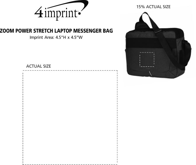 ... Zoom Power Stretch Laptop Messenger Bag Image 3 of 3. View Imprint c0bfd3a31337d
