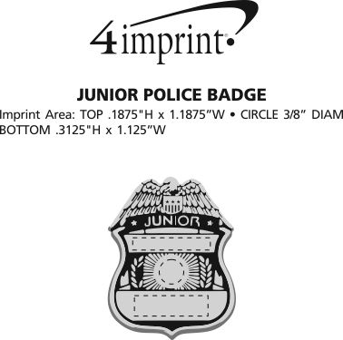 Junior police badge 130351 pol imprinted for Pol junior design