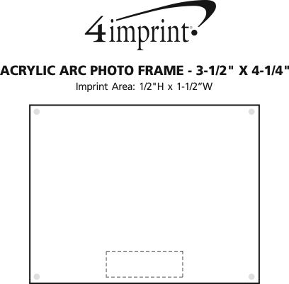 4imprint.com: Acrylic Arc Photo Frame - 3-1/2\