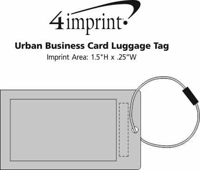4imprint urban business card luggage tag 130766 view imprint area urban business card luggage tag reheart Image collections