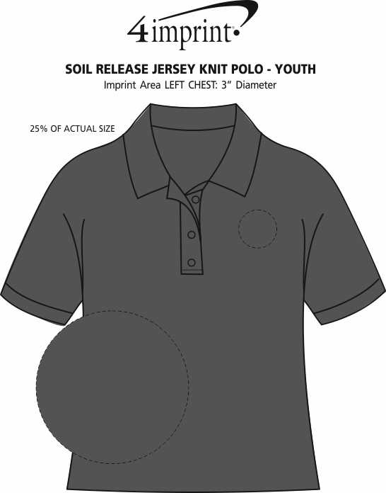 dc8904ac900 4imprint.com: Soil Release Jersey Knit Polo - Youth 132405-Y