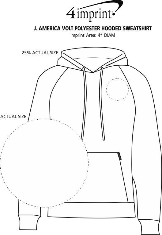 4imprint Com J America Volt Polyester Hooded Sweatshirt 132521