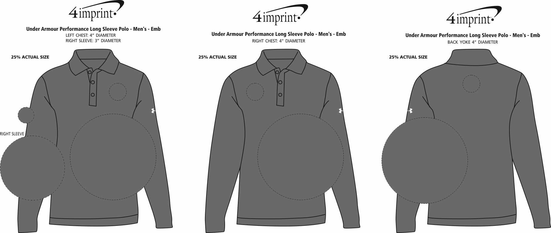 bbbd5141 ... Under Armour Performance Long Sleeve Polo - Men's -. 360° view · View  Imprint