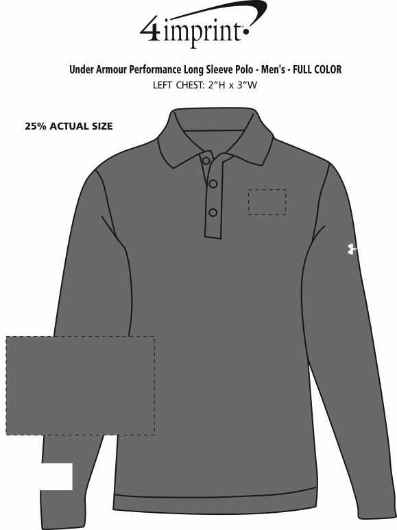33d815bfcf12 ... Under Armour Performance Long Sleeve Polo - Men s - Full Color Image 2  of 2. View Imprint