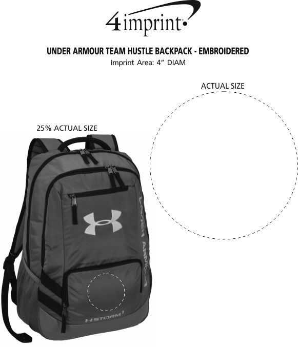 ... Under Armour Team Hustle Backpack - Embroidered Image 2 of 2. 360° view  · View Imprint 5c80581e80