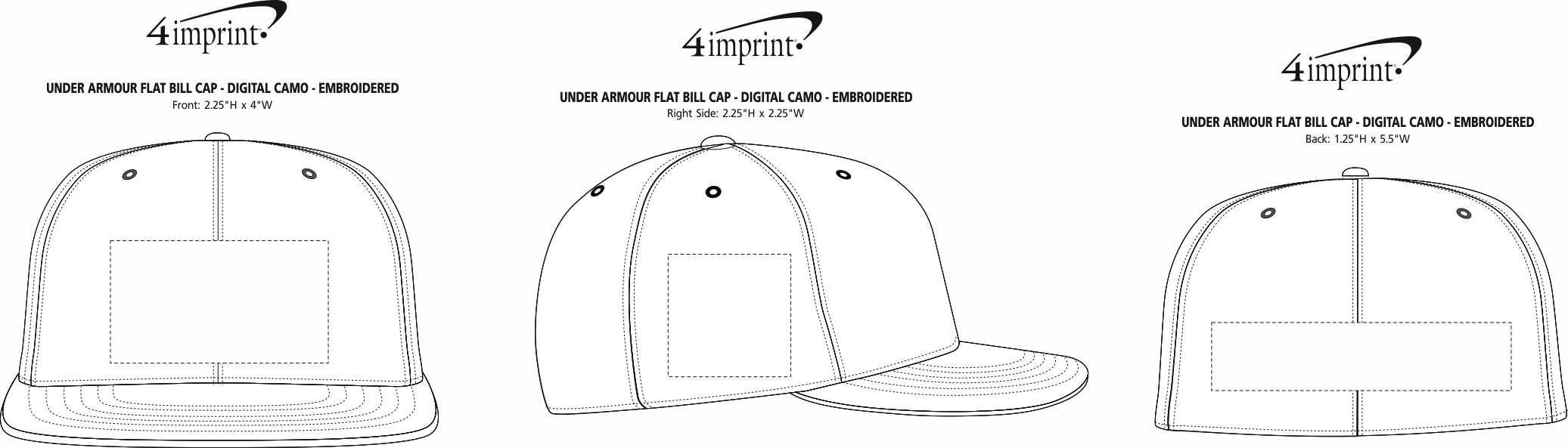 huge discount 53937 a7fb3 ... Under Armour Flat Bill Cap - Digital Camo -. View Imprint Area
