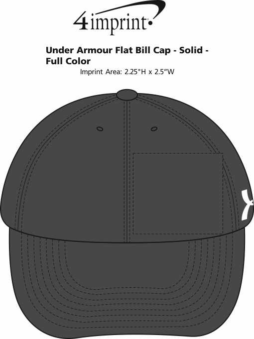 the latest 33a69 6627f ... Under Armour Flat Bill Cap - Solid - Full. View Imprint Area