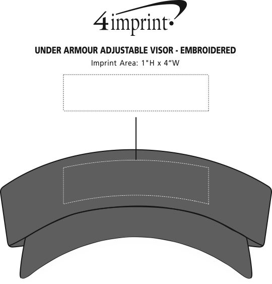4imprint.com  Under Armour Adjustable Visor - Embroidered 134883-E b1013215ef40