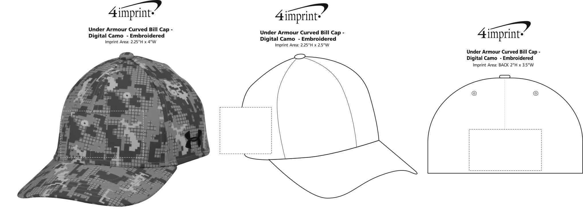 f52fba9cc78 ... Under Armour Curved Bill Cap - Digital Camo -. View Imprint