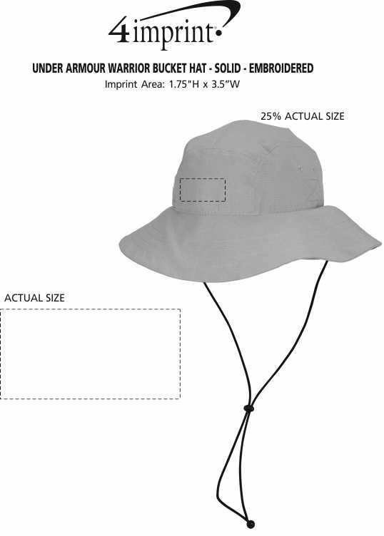 7ab08f11ba0cf ... Under Armour Warrior Bucket Hat - Solid - Embroidered. 360° view · View  Imprint
